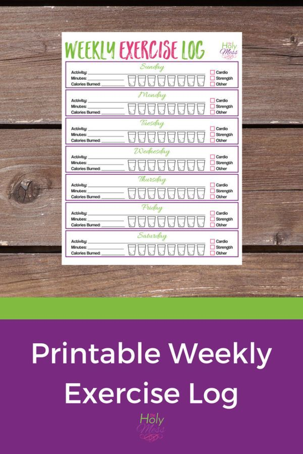 diet and exercise log printable