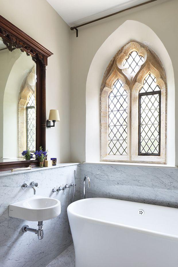 Beautiful Bathroom Graffiti english home built in 1847 , modern elements   antique meets