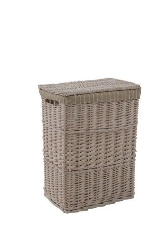 Hamptons Tall Basket - Grey OR White - Small RRP $69
