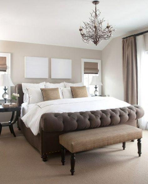 raumgestaltung-ideen-schlafzimmer-bett-braun-beige - ideen für das schlafzimmer