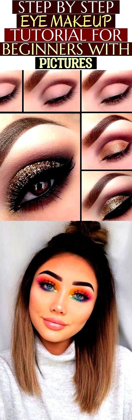 Step by step eye makeup tutorial for beginners with ...