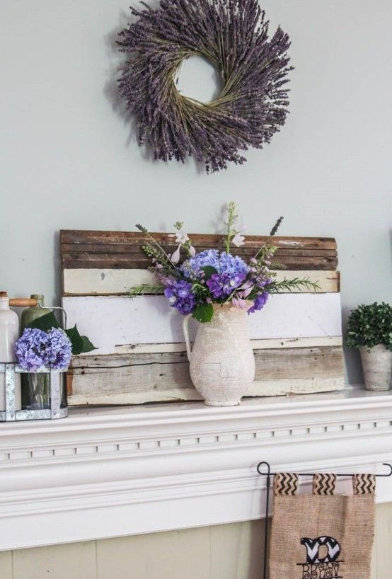 Decoration stunning cheap summer mantel decor ideas using old wooden and fresh flower agreeable