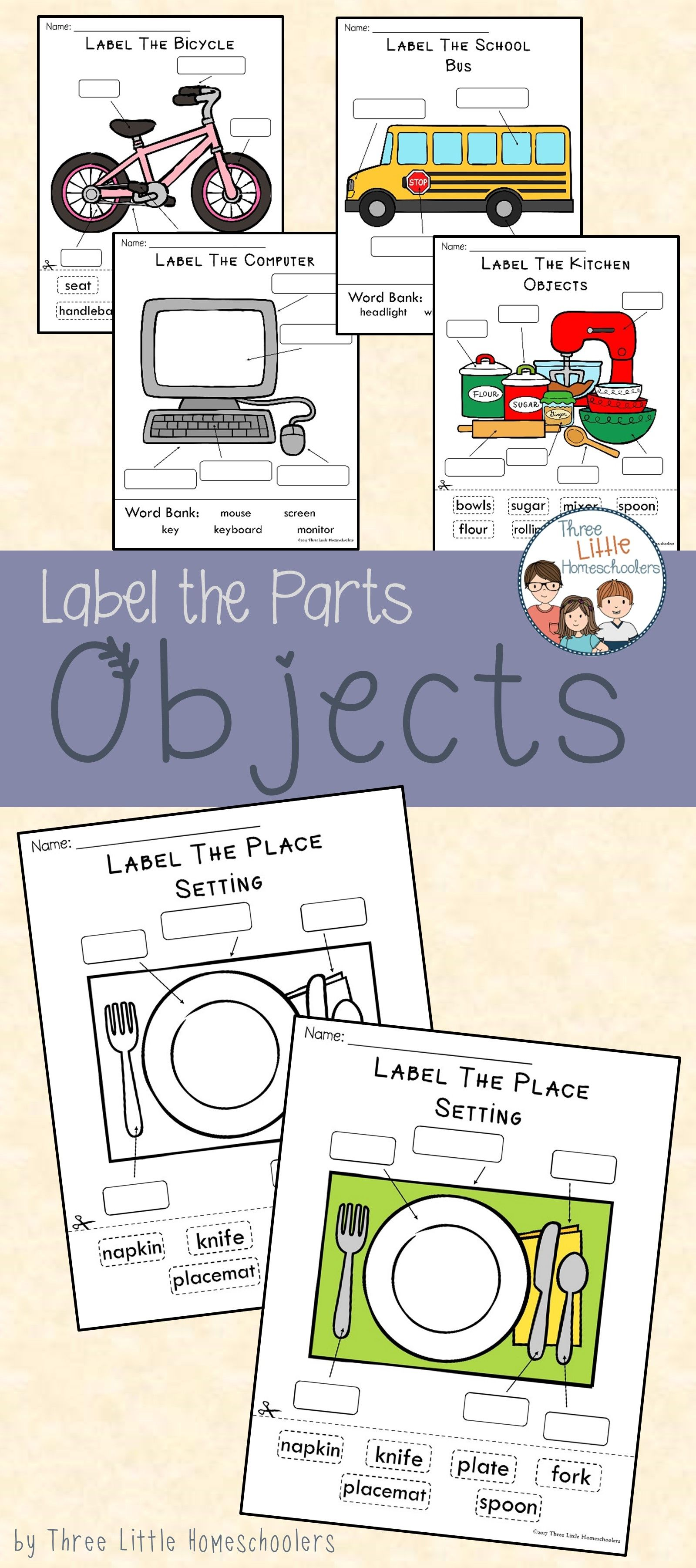 Objects Labeling Center Activities