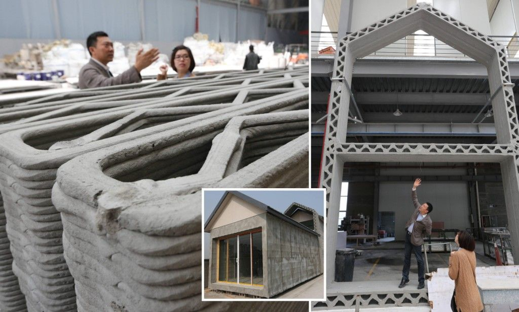 Giant 3D Printer Creates 10 Full Sized Houses In A DAY | 3d, House And 3D  Printing