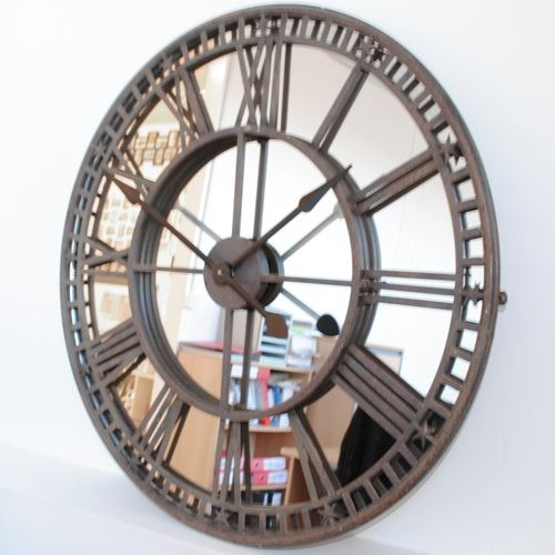 Buy Online Uk Antique Mirror Iron Roman Skeleton Wall Clock Mirror Wall Clock Antique Mirror Wall Clock