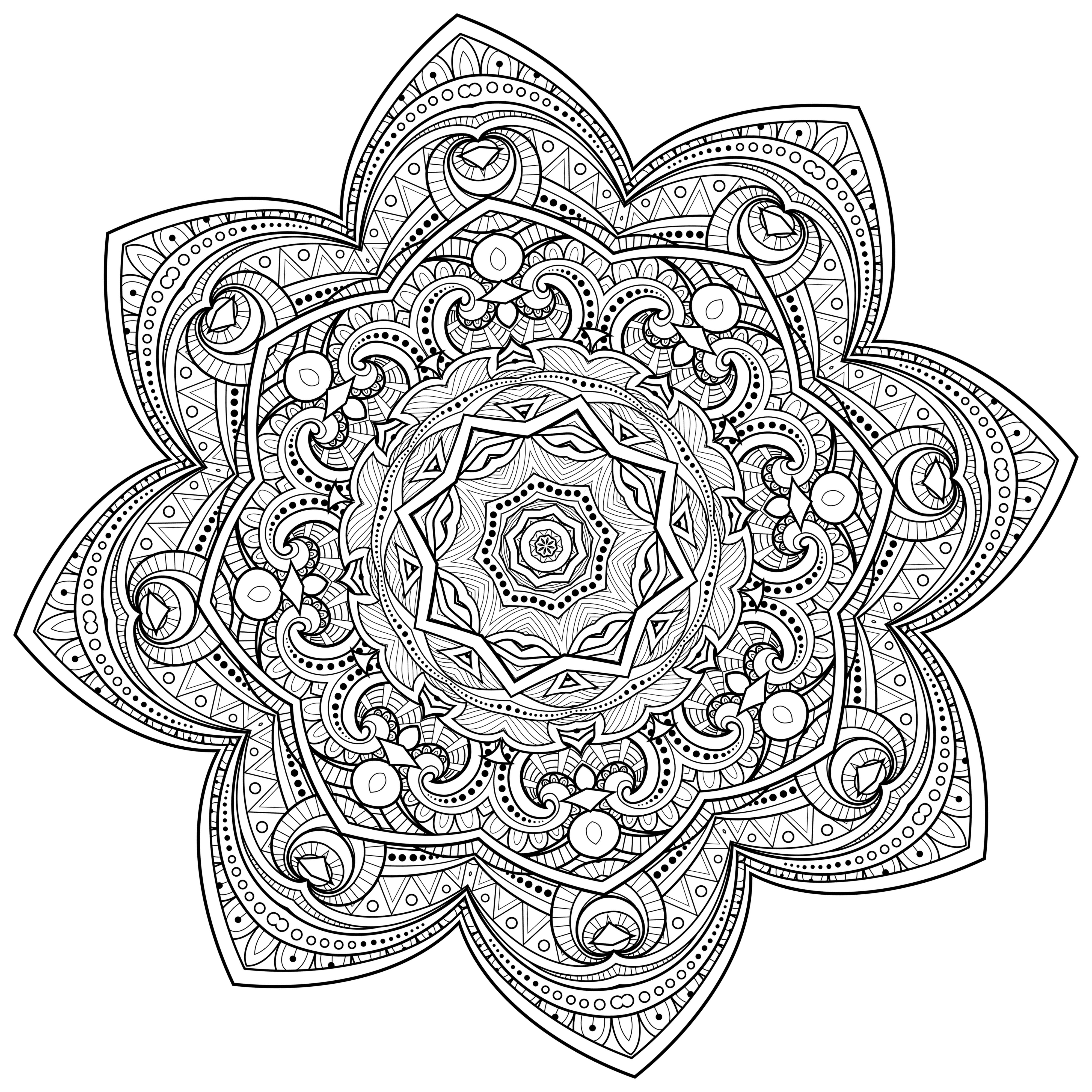 5 Free Printable Coloring Pages Mandala Templates The Maven Circle Mandala Coloring Pages Blank Coloring Pages Coloring Pages