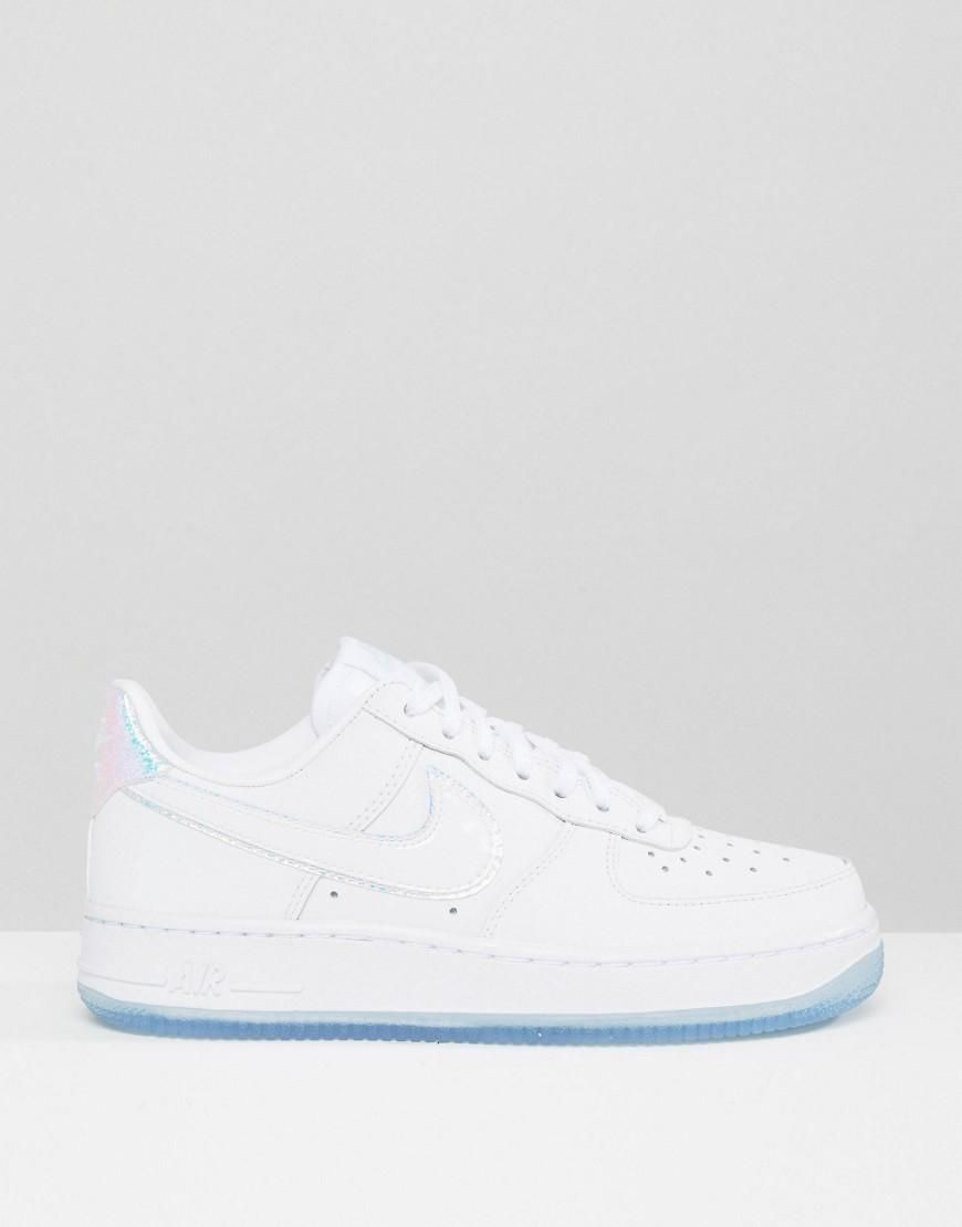 online retailer 7eab8 fe628 Nike  Nike Air Force 1 07 Trainers In Holographic White at ASOS