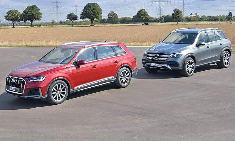 Audi Q7 Facelift Mercedes Gle Vergleichstest Audi Q7 Autozeitung Und Audi
