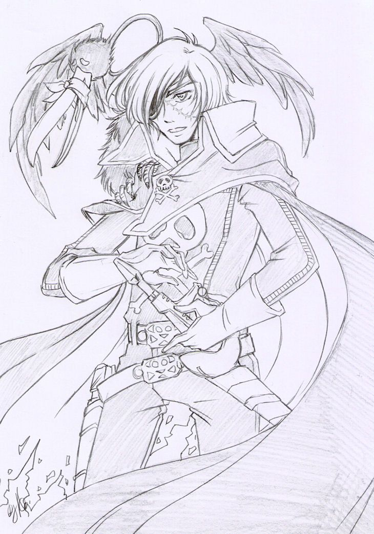 another cool Harlock drawing