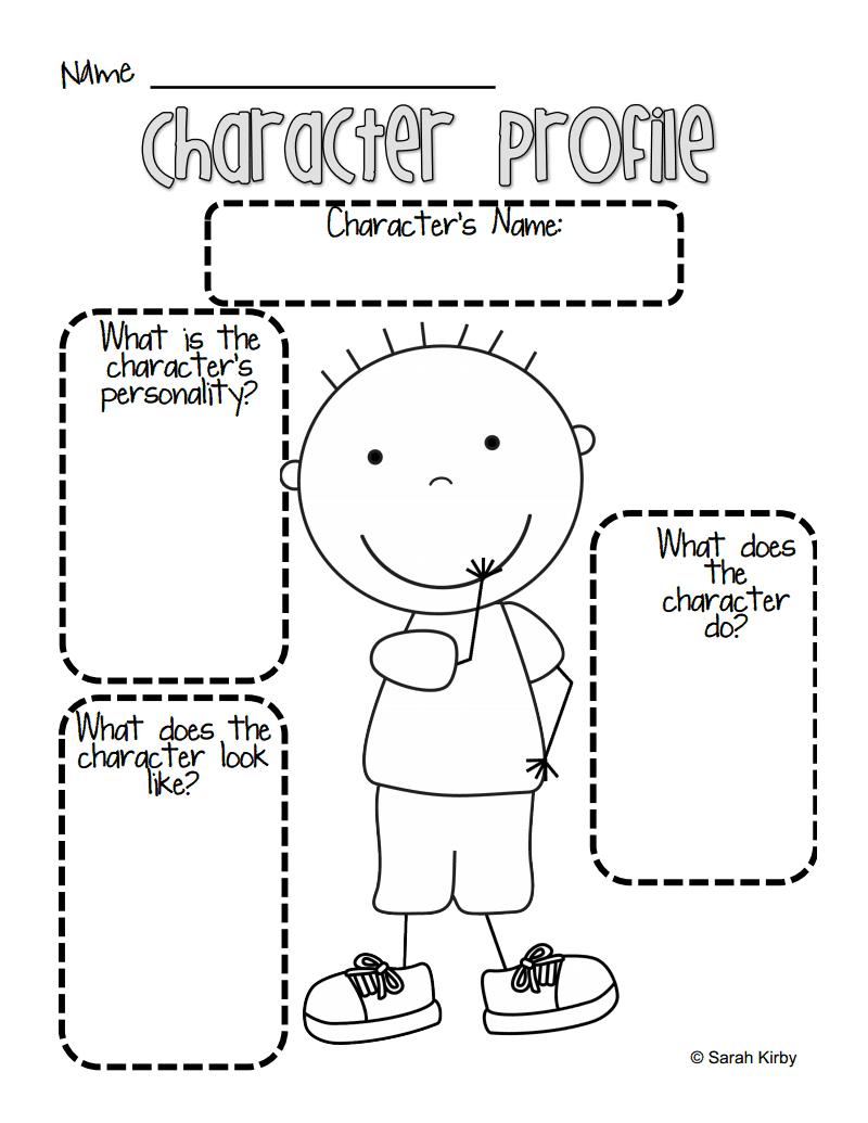 Boy Character Profile.pdf   Reading workshop [ 1035 x 800 Pixel ]