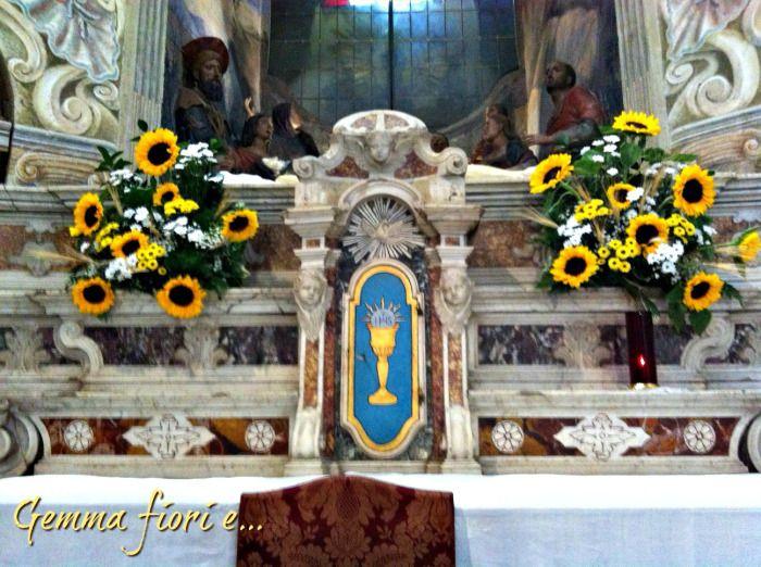 Addobbi Matrimonio Girasoli : Composizioni per altare di girasoli e margherite i nostri