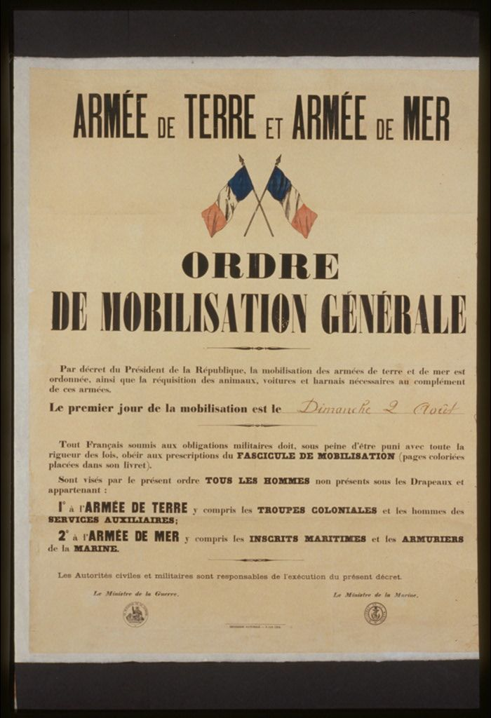 Il Y A Un Siecle Jour Pour Jour La Mobilisation Des Hommes La Requisition Des Animaux Le 2 Aout 1914 Cette Cours Histoire La Grande Guerre Armee De Terre