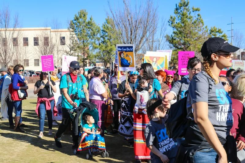 Native Americans partipate in Womens March in Tulsa