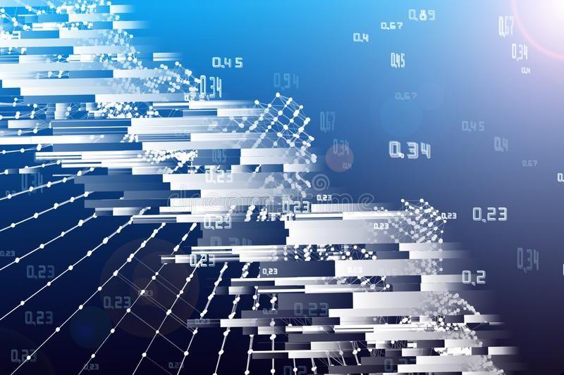 Big data abstract analysis infographics background