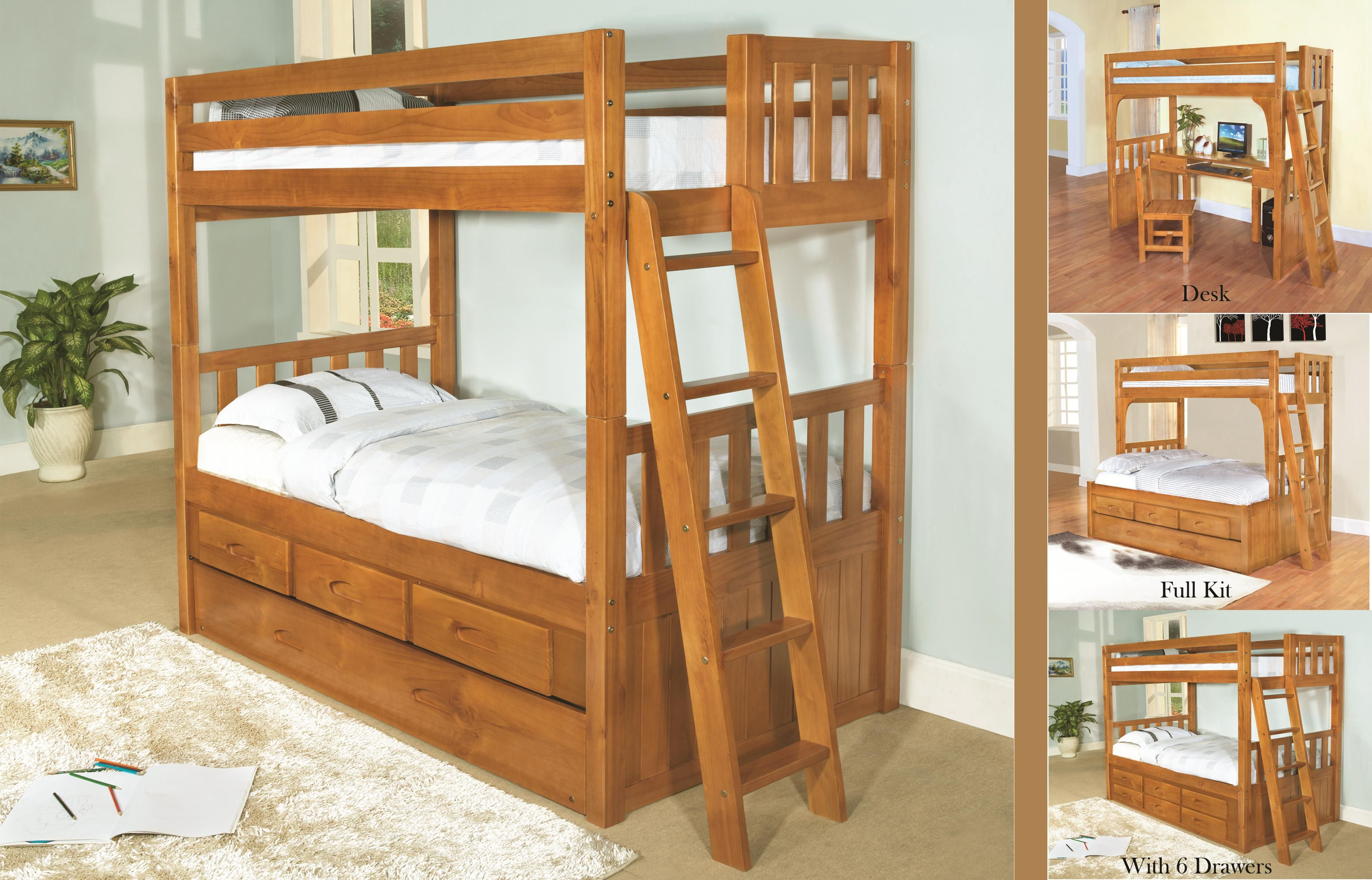 Double loft bed with desk  Kids Furniture Loft Beds For Kids Low Twin With Ladder  Pine Wood