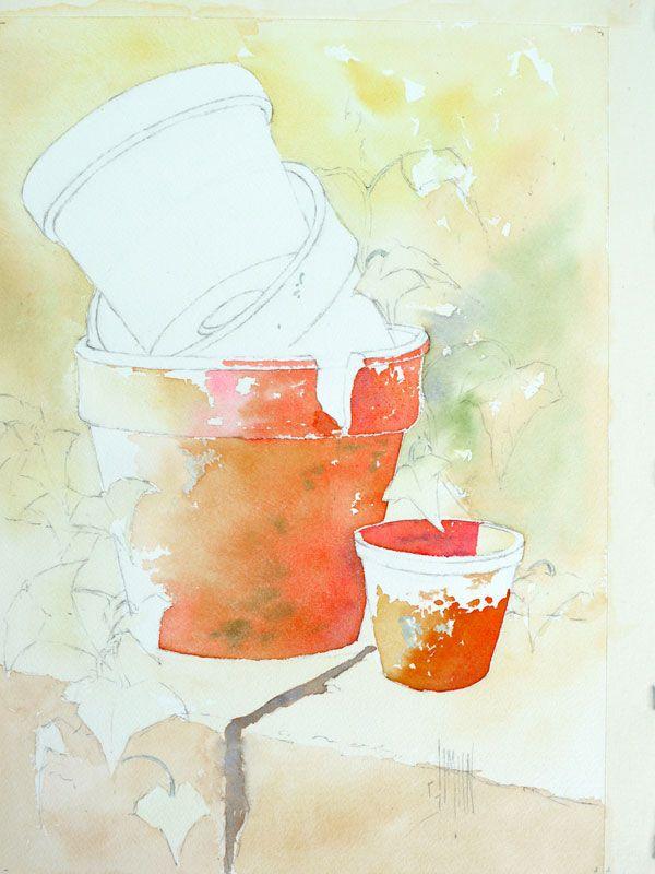Pot Fleur Optimisation Couleur Pot 2 Peindre Un Tableau