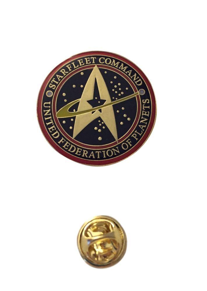 Star Trek Starfleet Command Original Series Logo Metal Pin With