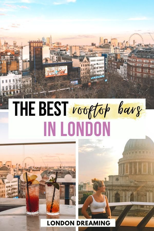 10 Best Rooftop Bars in London. Looking for a rooftop bar in London where you can enjoy a drink in the sun? You've just found the 10 best rooftop bars in London to choose from! As a Londoner I've tried a lot of the bars the city has to offer, so trust me when I say these are great! London Bars | Rooftop Bars | #london #londontraveltips #londonrooftopbars #rooftopbars