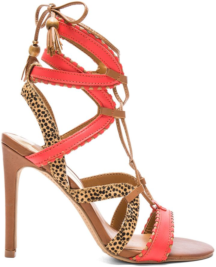 c3efb284714 Dolce Vita Haven Cow Hair Heel Lace Up High Heels