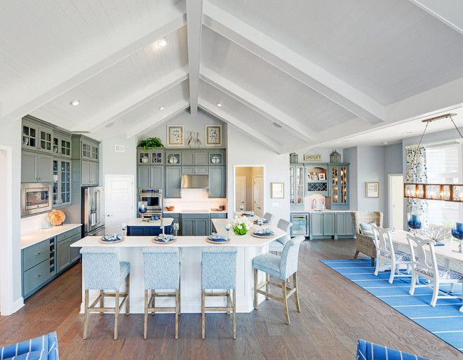 Vaulted Ceiling Overlooks The Kitchen Dining Room And Butlers Pantry All Open Plan