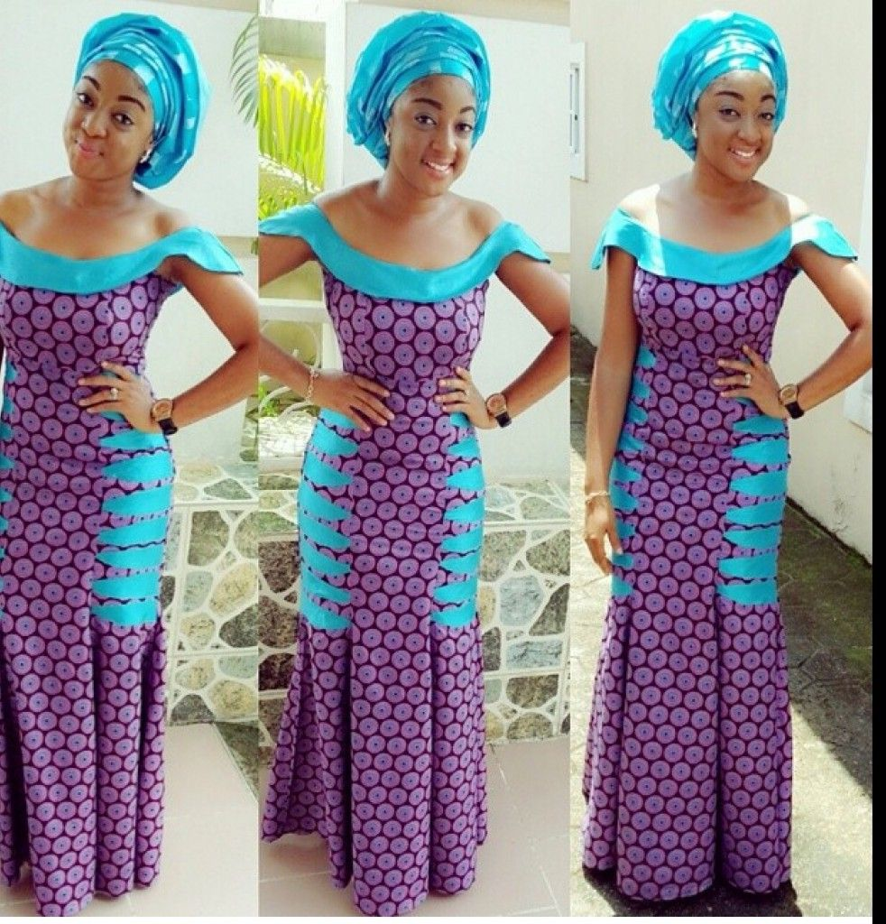 the blue and the purple looks good ~Latest African Fashion, African ...