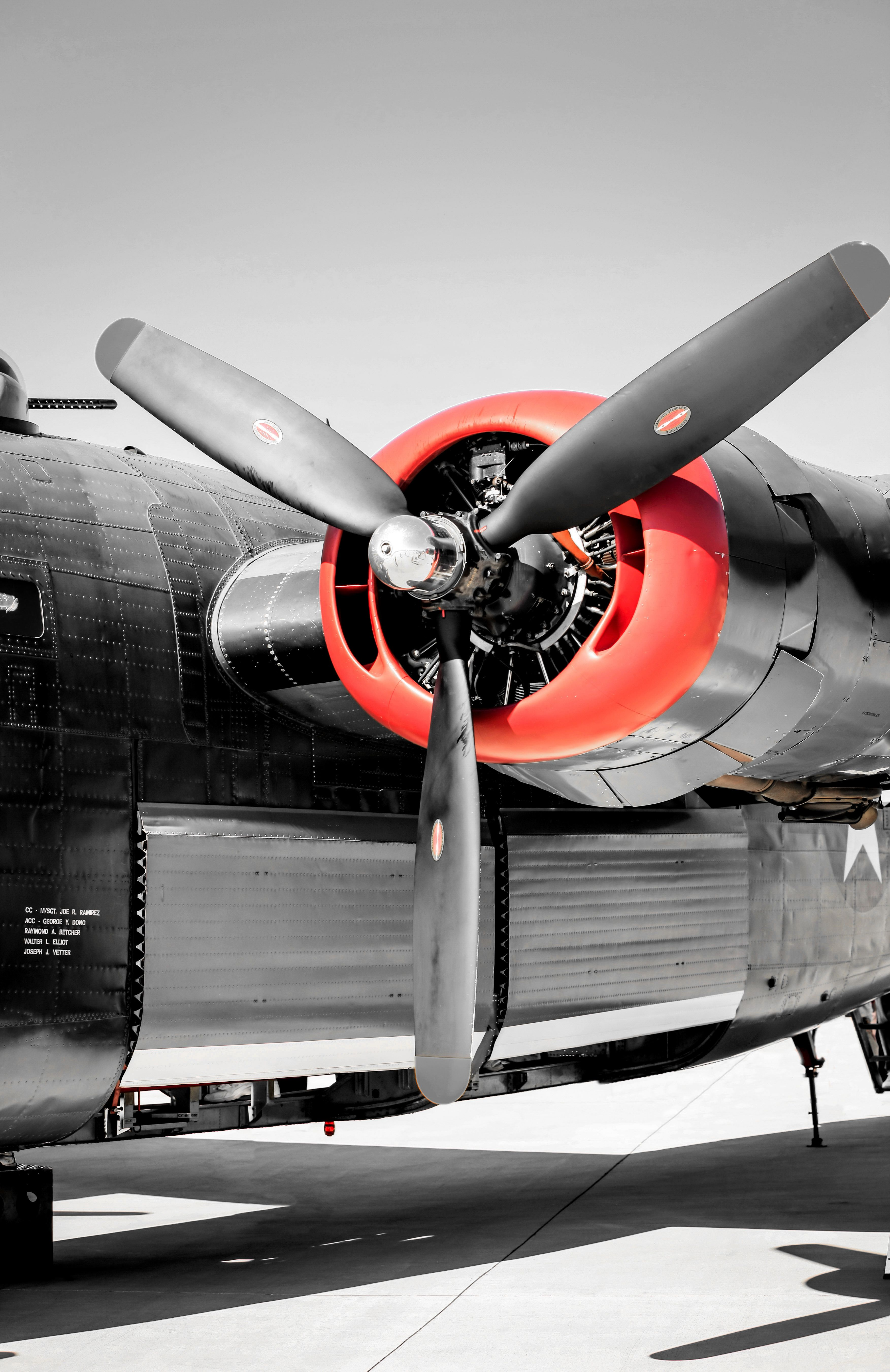 b24 pratt whitney radial engine vintage aviation wall decor