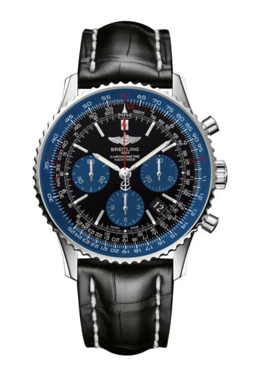 faebaebc2d6 Model  Navitimer 01 Blue Edition Reference  AB012116 BE09 743P A20BA.1  Case  Steel (Limited) Dial  Black Bracelet  Croco - Black Buckle  Tang-type