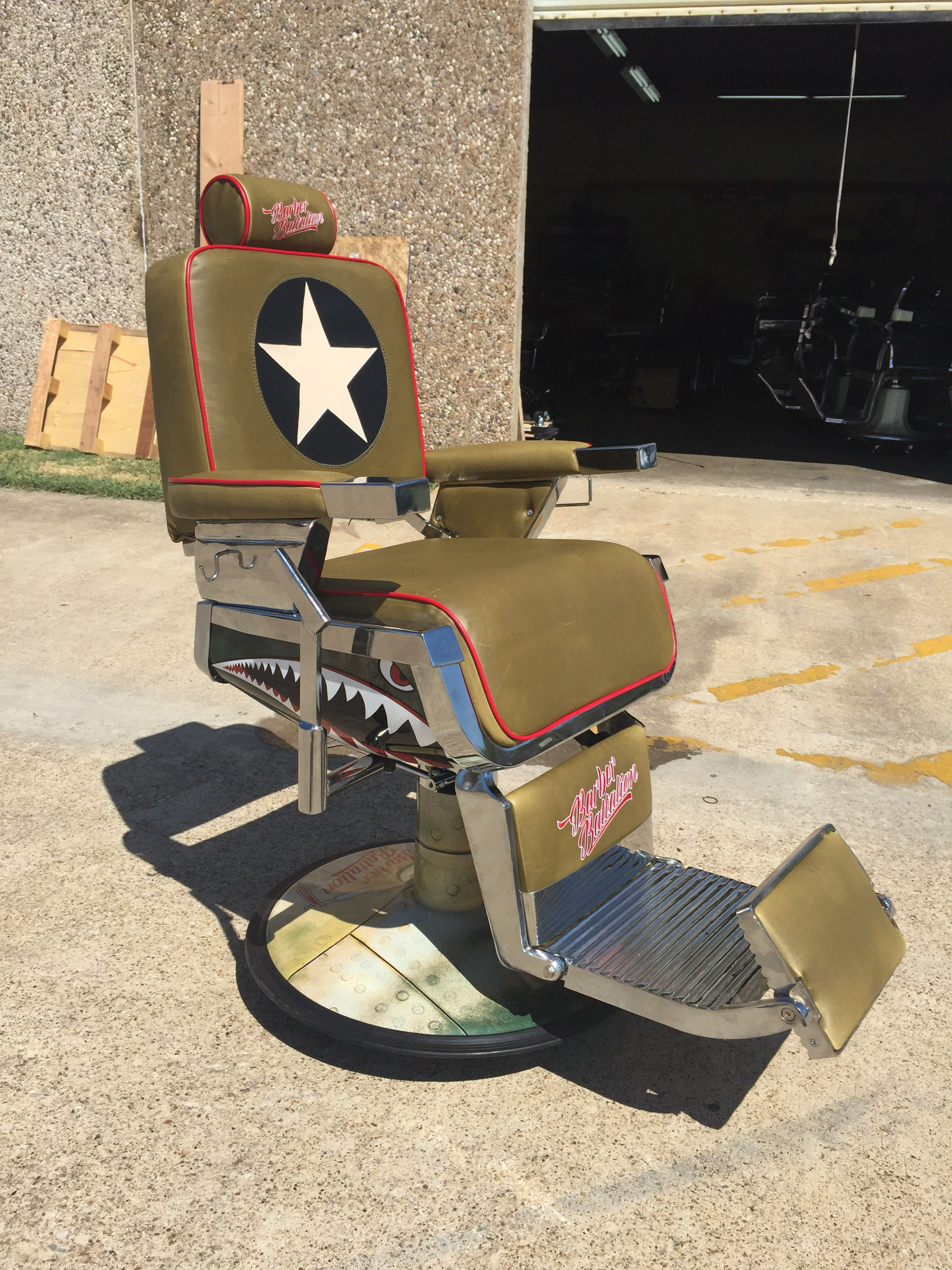 Barber batallion limited series chair with images