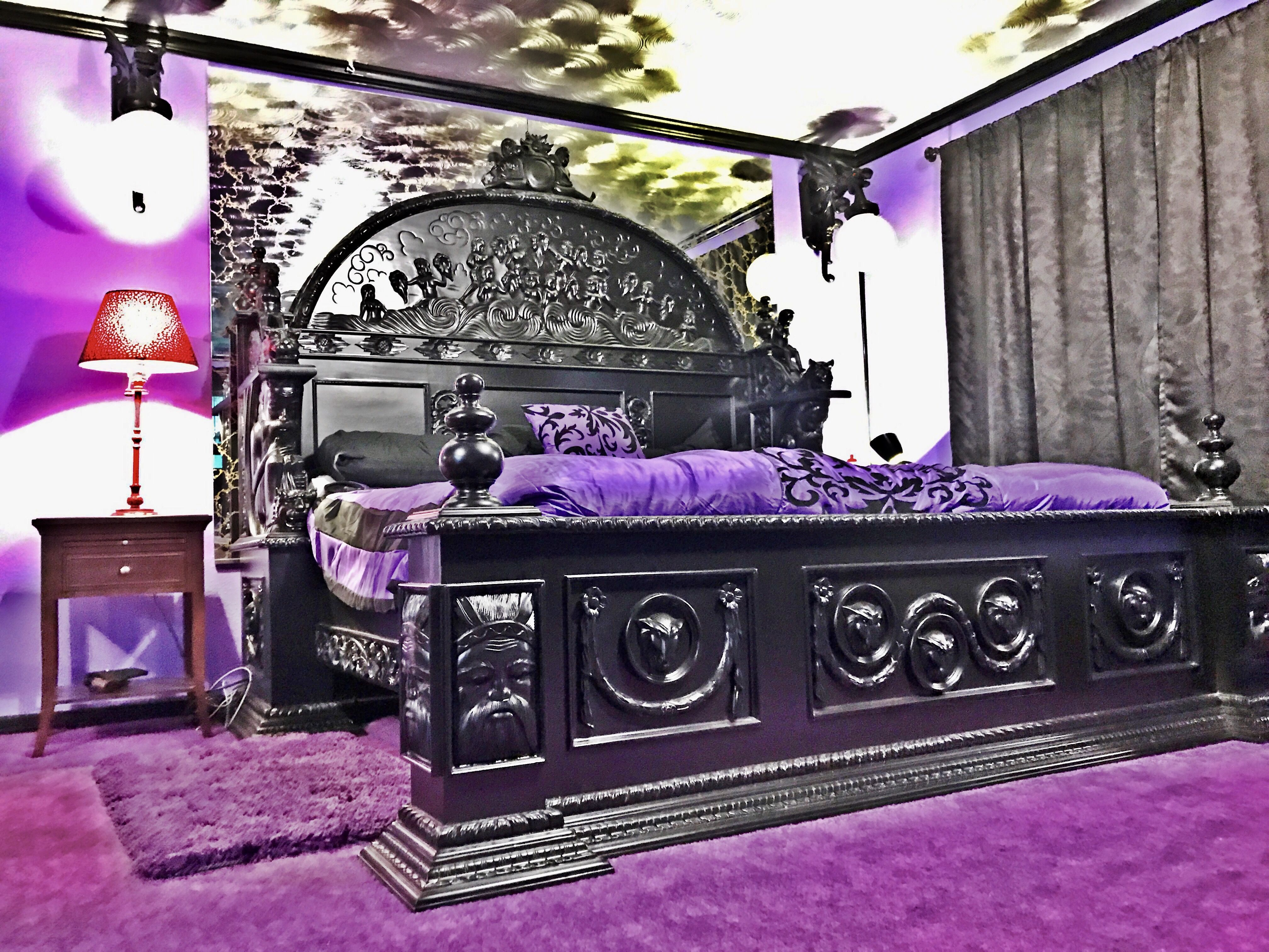 Gothic King Bed by MBW Furniture Gothic Bedroom