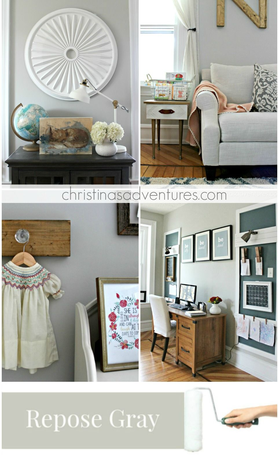 Repose Gray Bedroom: Our House: Modern Farmhouse Paint Colors