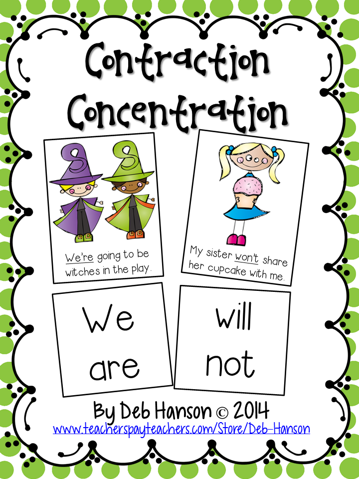 Contractions (not just for early elementary!) Two FREE