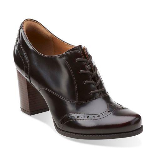 Ciera Brine Burgundy Leather Clarks Womens Shoes Womens