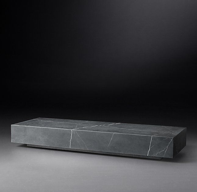 Low Marble Plinth Coffee Table In 2020 Stone Coffee Table Marble Coffe Table Black Marble Coffee Table