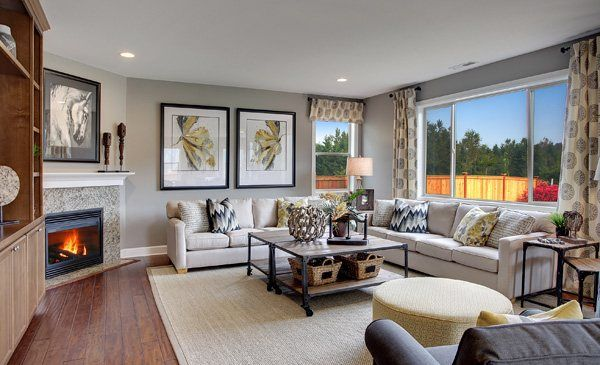We LOVE this living space from our @lennarseattle team! :)