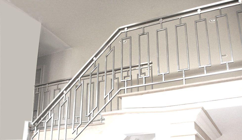 Residential Steel Grill Fence Horizontal Stair Railing For The