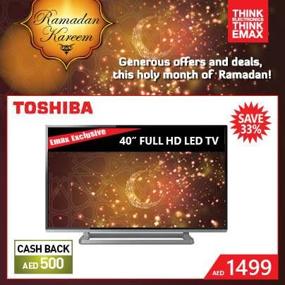 4b0888356 Toshiba 40″ HD LED Smart TV Wow Offer at Emax
