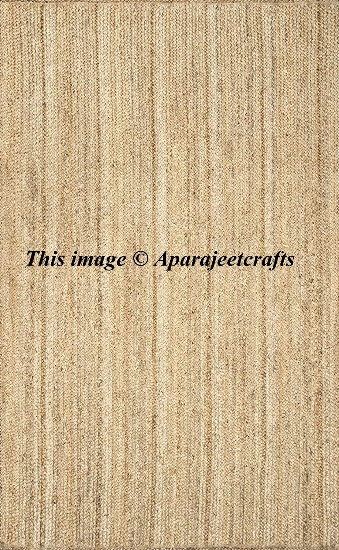 Bohemian Decor Indian Braided Rug Home Decor Runner Rug Rag Rug Jute Rug Rag Meditation Mat Area Rug 4x6 F Natural Jute Rug Natural Rug Braided Jute Rug