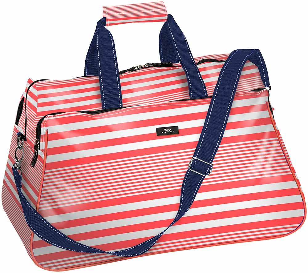 #SCOUT Hilary Duffle in Barbara Stripesand Coral - love the color combo!