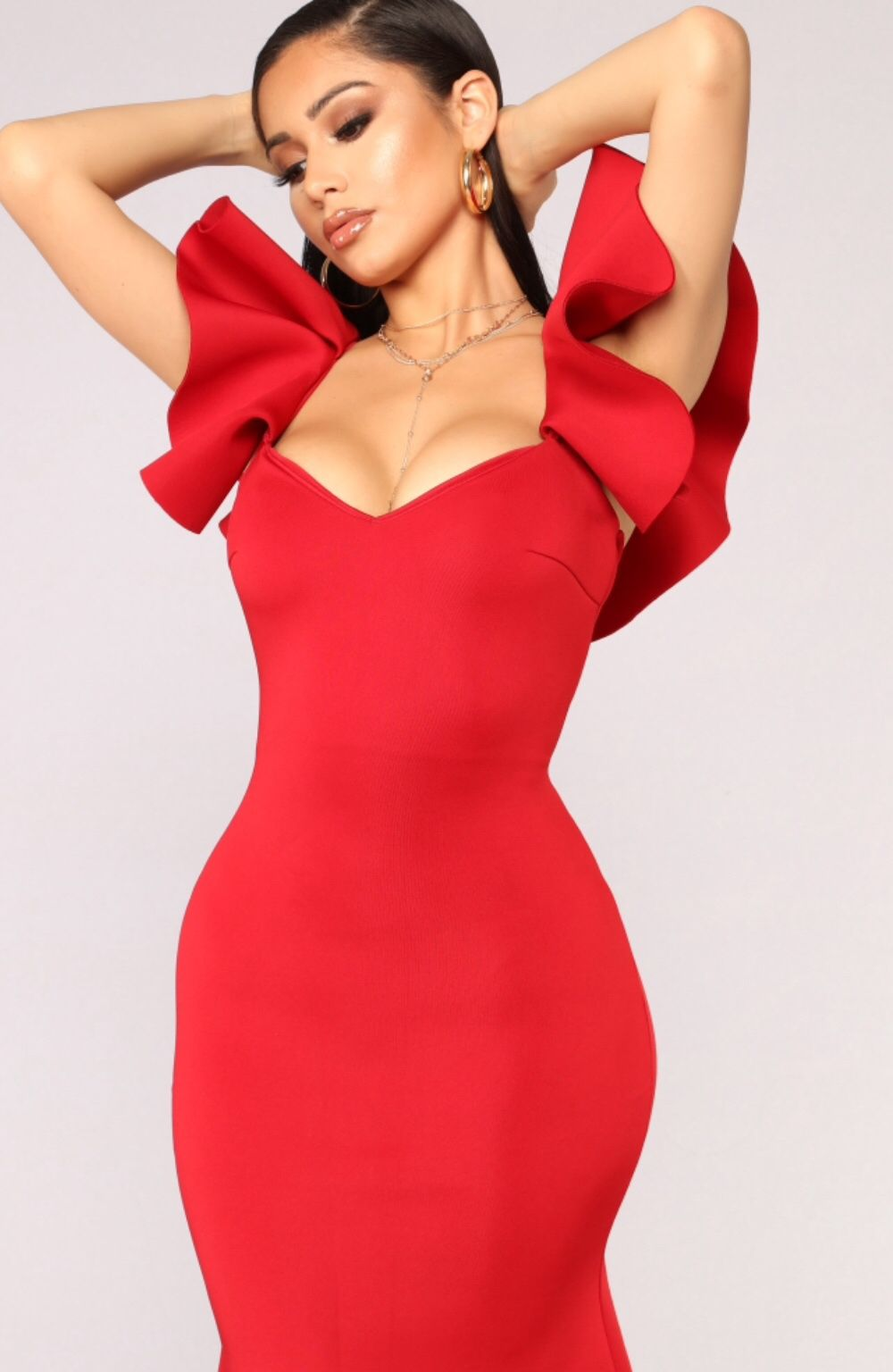 5a6242050 Salty Babe Mermaid Dress - Red in 2019 | Sexy | Dresses, Work ...