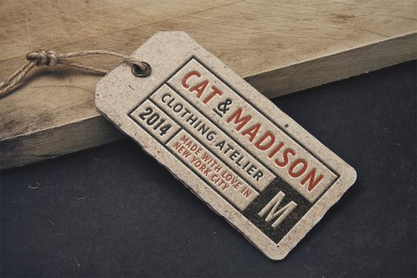 Vintage Label Tag MockUp GraphicBurger – Abel Templates Psd