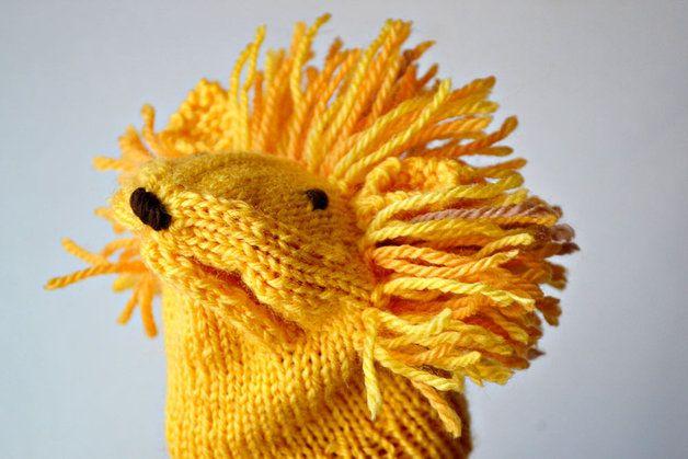 Strickanleitung für eine Löwen Handpuppe / diy knitting instruction ...