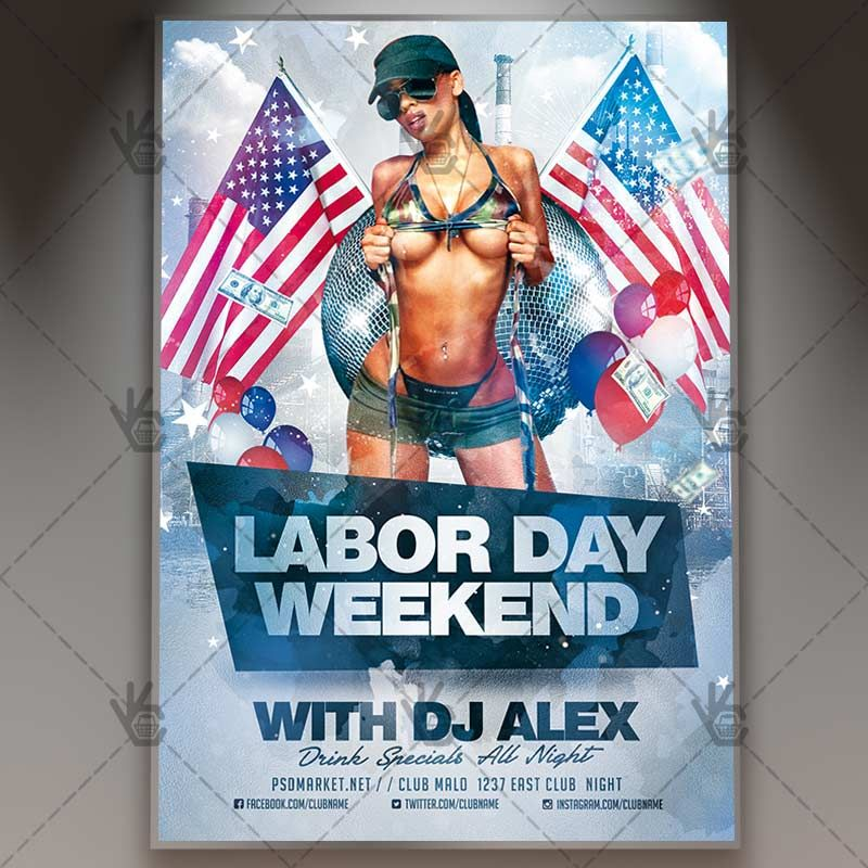 Labor Day Weekend  Premium Flyer Psd Template America American