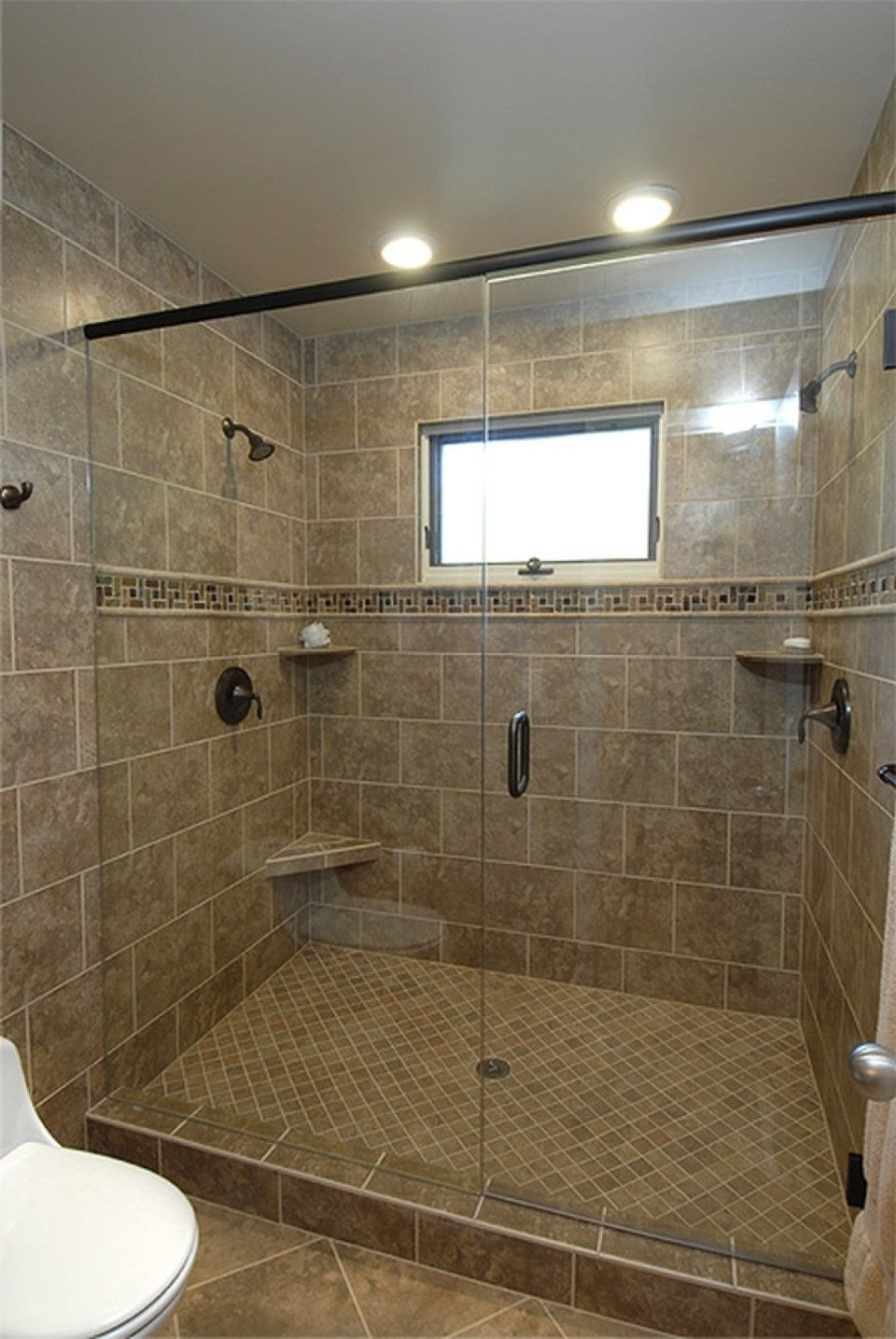 showers with bullnose around window