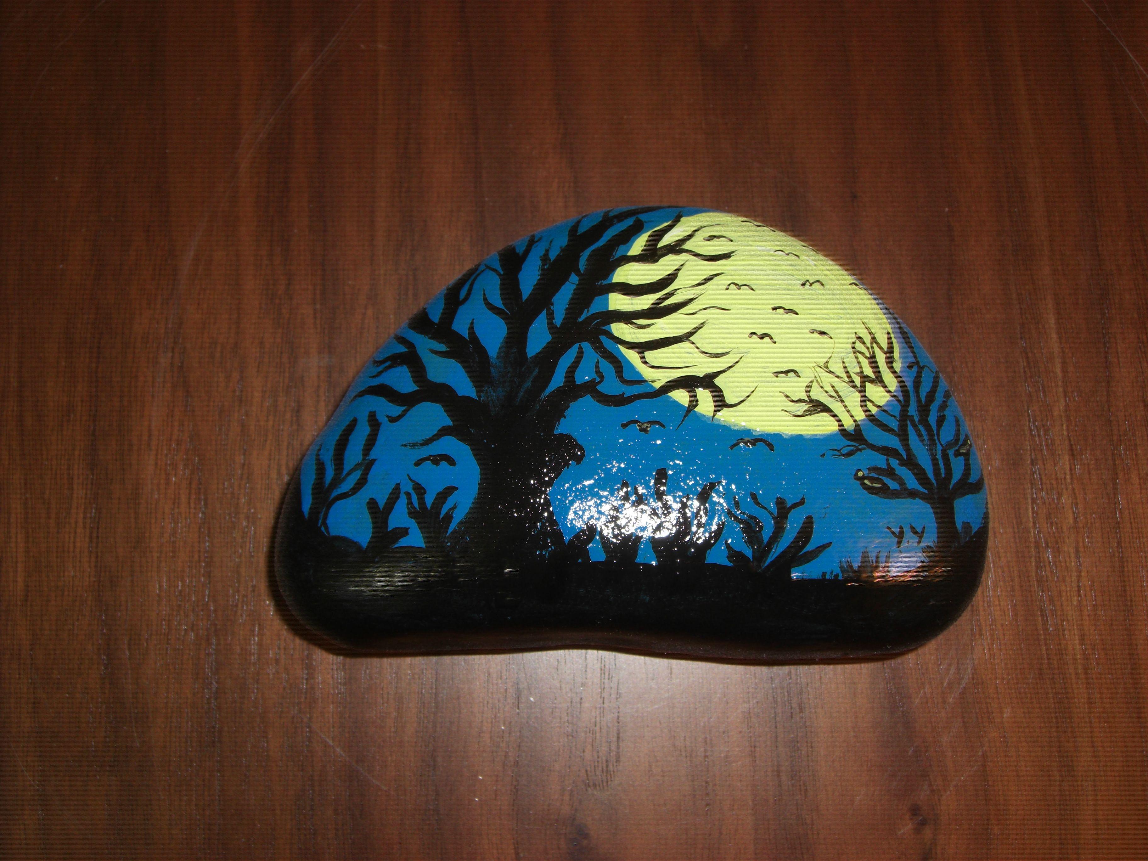 Tas Uzeri Boyama Yasemin Yilmazerli Sulu Boya Minyaturler Sanat