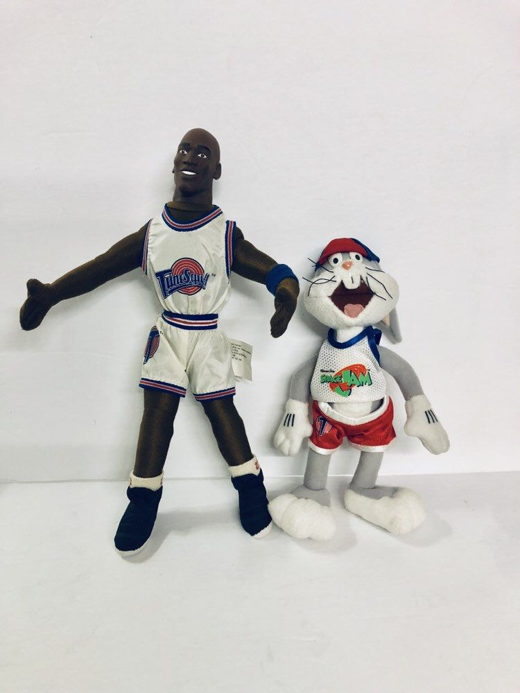 1996 Looney Tunes Bugs Bunny And Michael Jordan Plush Space Jam