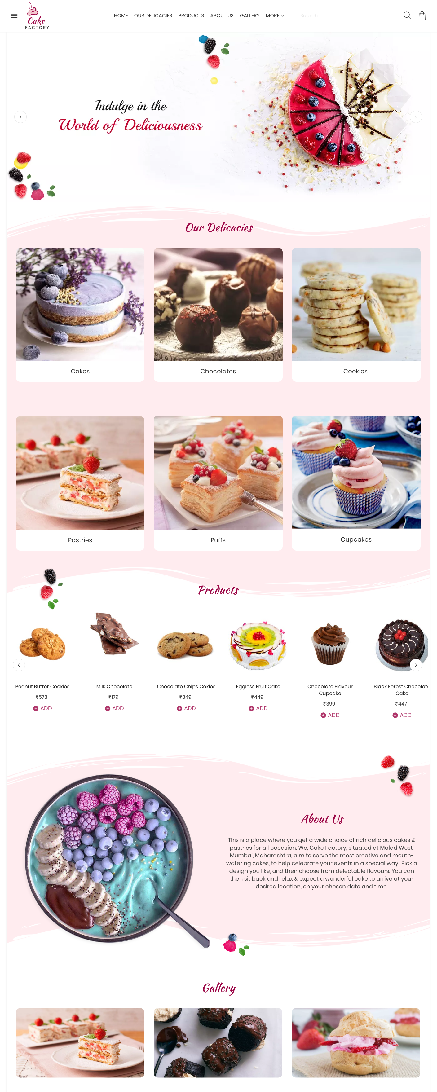 Best Free Cake Shop Website Templates Bakery Website Cake Shop Design Cake Shop