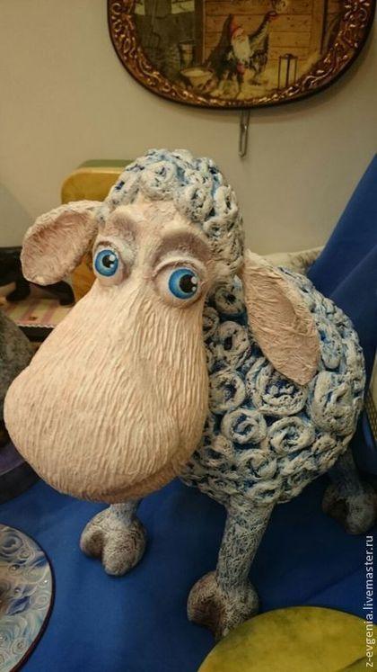 Овечка Доброе Сердечко - голубой,овечка,овца,символ 2015 года,символ нового года
