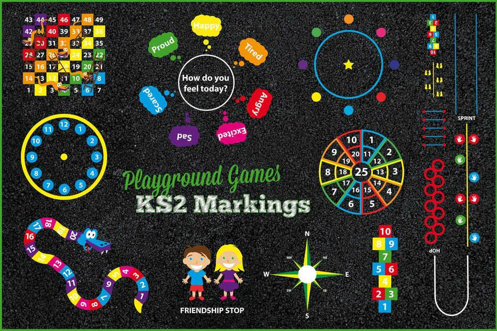 Playground Games Key Stage 2 Markings by