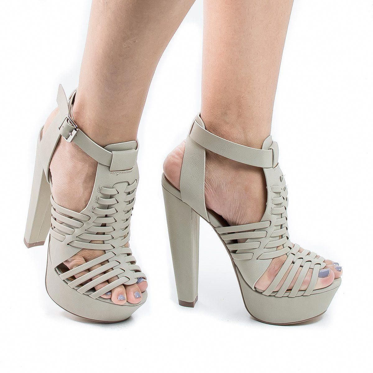 d27760d37bcb Stand tall with these gorgeous huarache   fisherman inspired high heel  sandal with a hint of