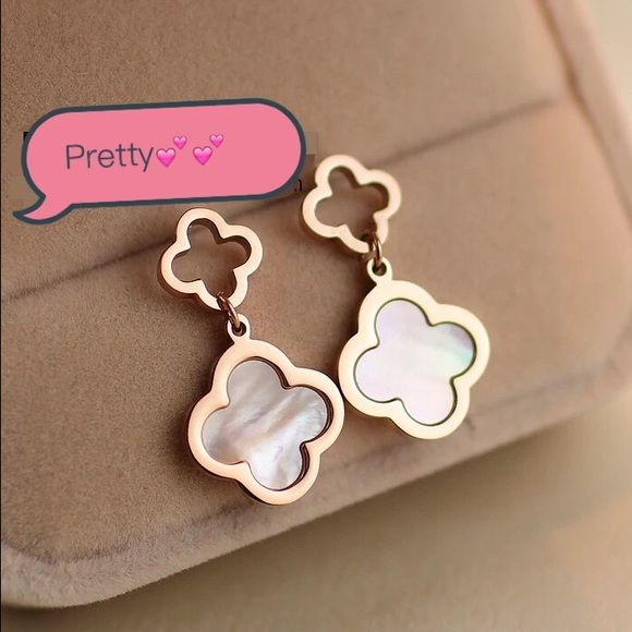 New Four Leaf Clover Earrings Brand Without Tag Or Box Super Cute And